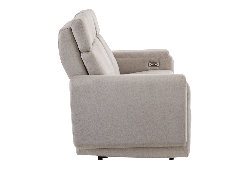 Divan inclinable et motorisé en tissu beige - ELRAN photo du produit other02 L