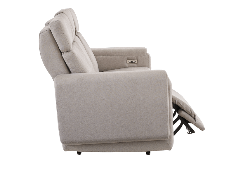 Divan inclinable et motorisé en tissu beige - ELRAN photo du produit other03 L