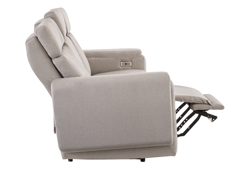 Divan inclinable et motorisé en tissu beige - ELRAN photo du produit other04 L