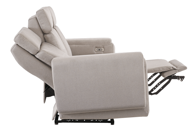 Divan inclinable et motorisé en tissu beige - ELRAN photo du produit other05 L