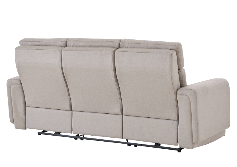 Divan inclinable et motorisé en tissu beige - ELRAN photo du produit other08 L