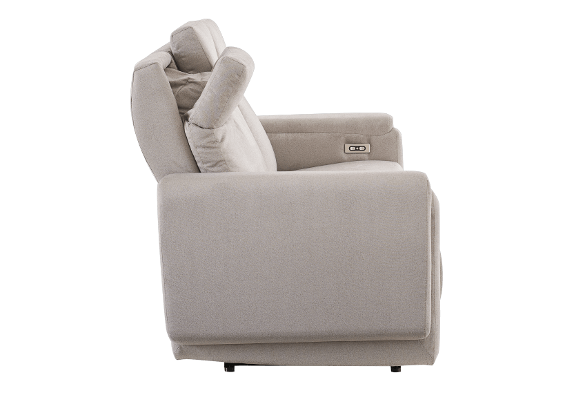 Divan inclinable et motorisé en tissu beige - ELRAN photo du produit other10 L