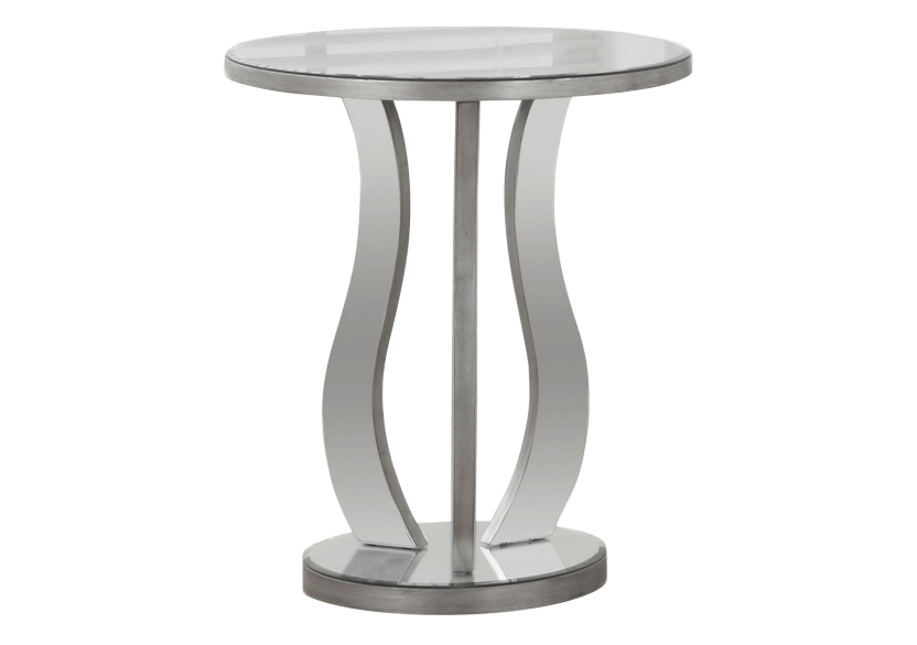 Table d'appoint gris argenté photo du produit
