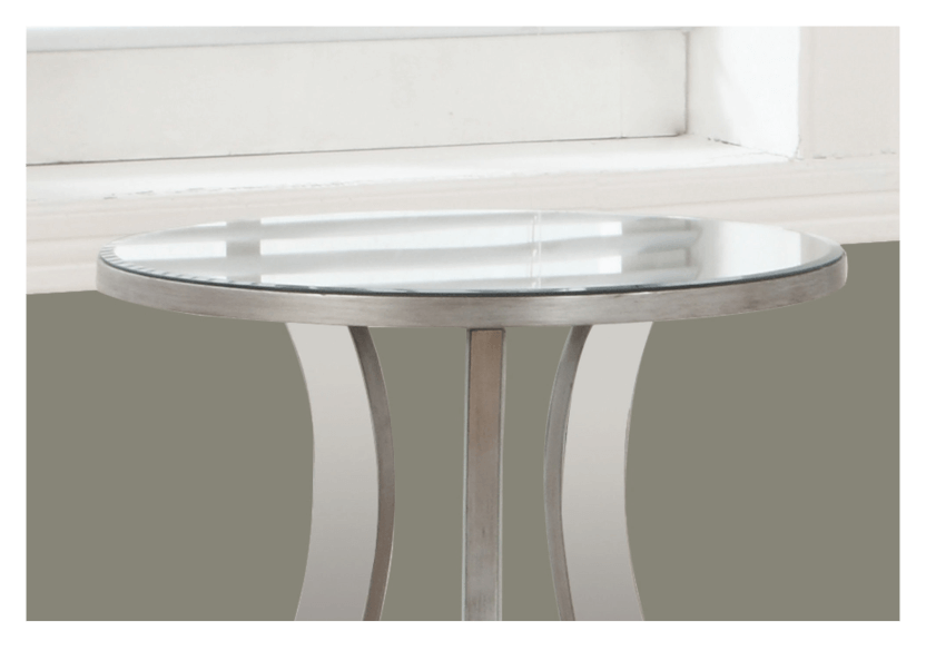 Table d'appoint gris argenté photo du produit other01 L