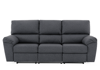 Divan inclinable en tissu gris - Elran photo du produit