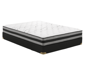 "Matelas et sommier 5"" Saba - Très grand lit King - Collection BM photo du produit"
