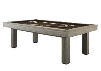 Table de billard grise avec tapis noir photo du produit