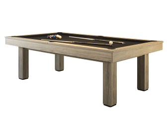 Table de billard beige avec tapis noir photo du produit