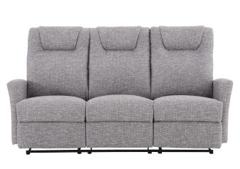 Divan inclinable en tissu gris photo du produit