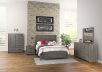 Mobilier de chambre à coucher brun-gris - Grand lit Queen photo du produit other05 S