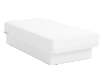 Lit plateforme blanc 1 place Twin photo du produit
