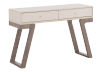 Table console en bois brun et ivoire photo du produit other01 S
