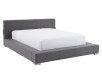 Lit en tissu gris - Grand lit Queen photo du produit other01 S