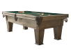 Table de billard en merisier brun-gris avec tapis vert photo du produit other01 S